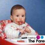 Baby-having-food