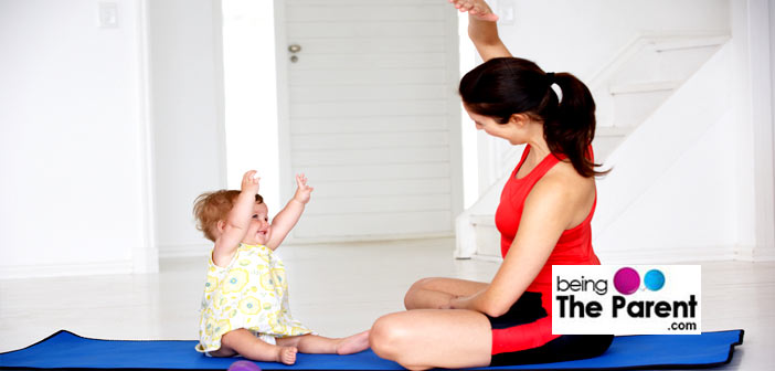 Mother and baby exercise