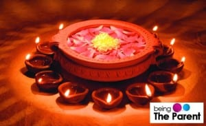 Traditional-decoration-with-diyas