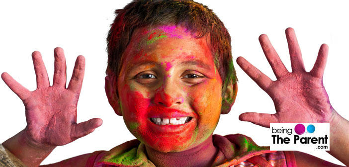 Holi safety for kids