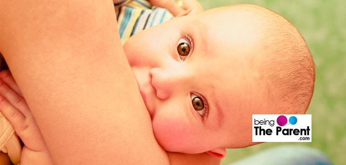 Baby bites mother