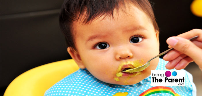 Feeding  solids to baby