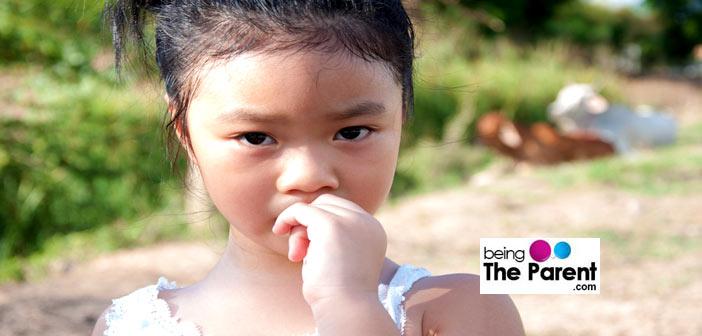 girl biting nails