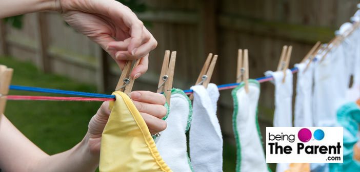 Handwashing cloth diapers