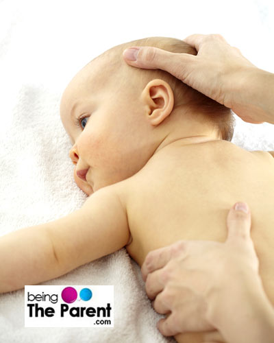 Oiling Baby hair