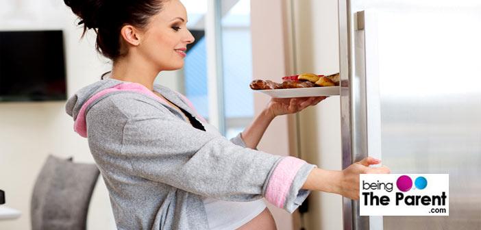 pregnant woman fridge