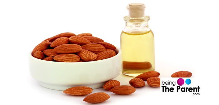 Almond oil massage