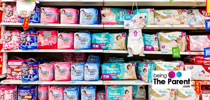 Shopping for baby diapers