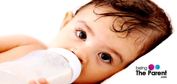 Weaning the baby off the bottle