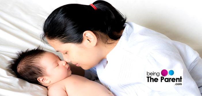 Mom and baby bonding