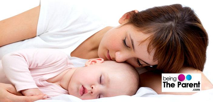 Mom and baby co-sleeping