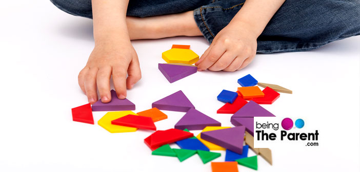 Brain gym blocks and puzzle