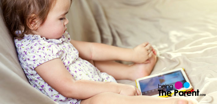 Toddler with IPAD