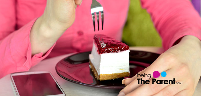 Pregnant woman cheesecake
