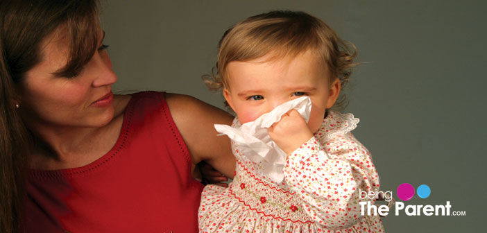 Baby suffering from cold