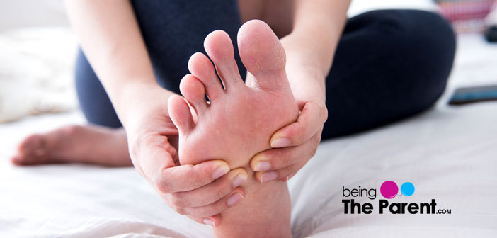 Foot massaging