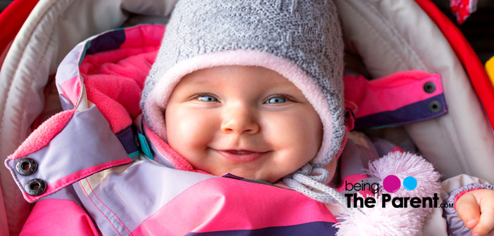 Baby dressed in winters