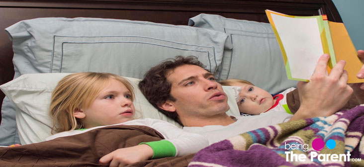 dad reading bedtime story