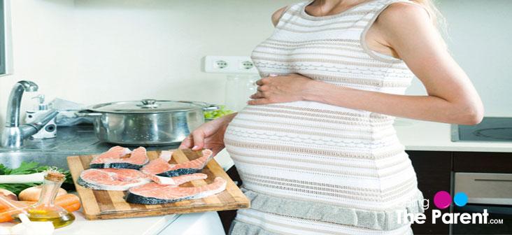 pregnant woman salmon