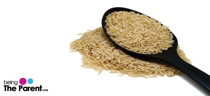 brown rice food to relieve constipation in babies
