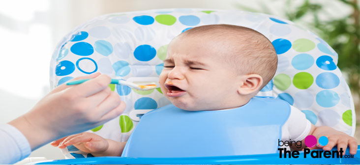 feeding a baby with fever