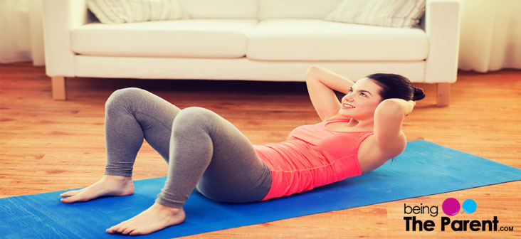 abs crunch home remedies to lose belly fat after delivery