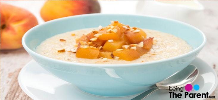 fruity oatmeal puree