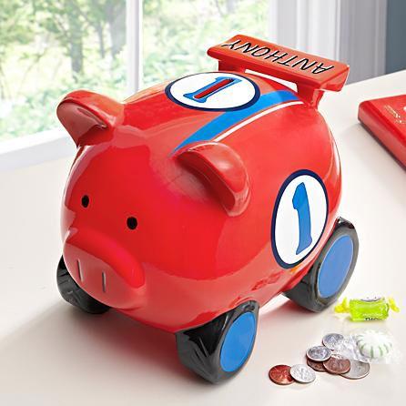 racer car piggy bank