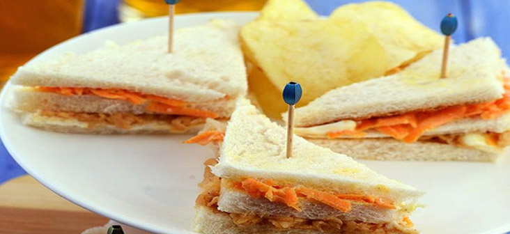cooking without fire - apple carrot sandwich