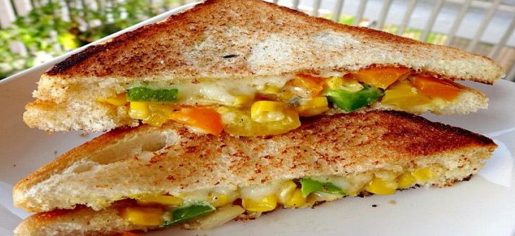 corn capsicum sandwich