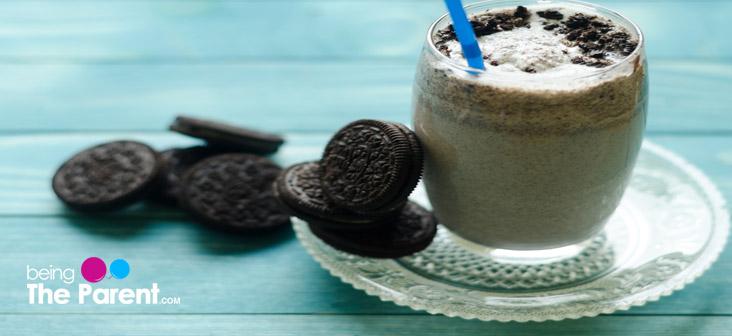 mint oreo milkshake