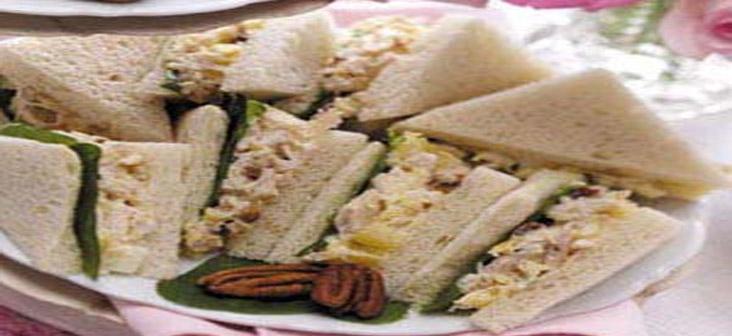 tuna tea sandwich