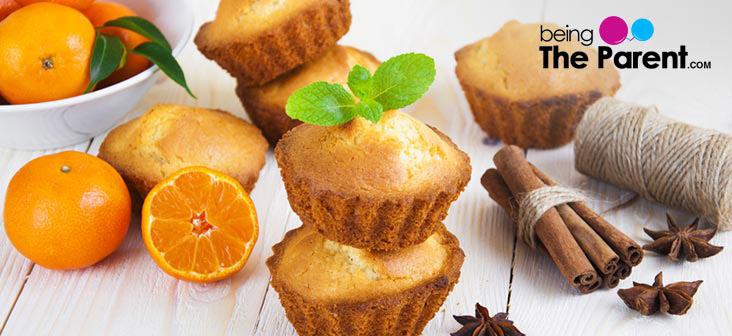 orange cupcke