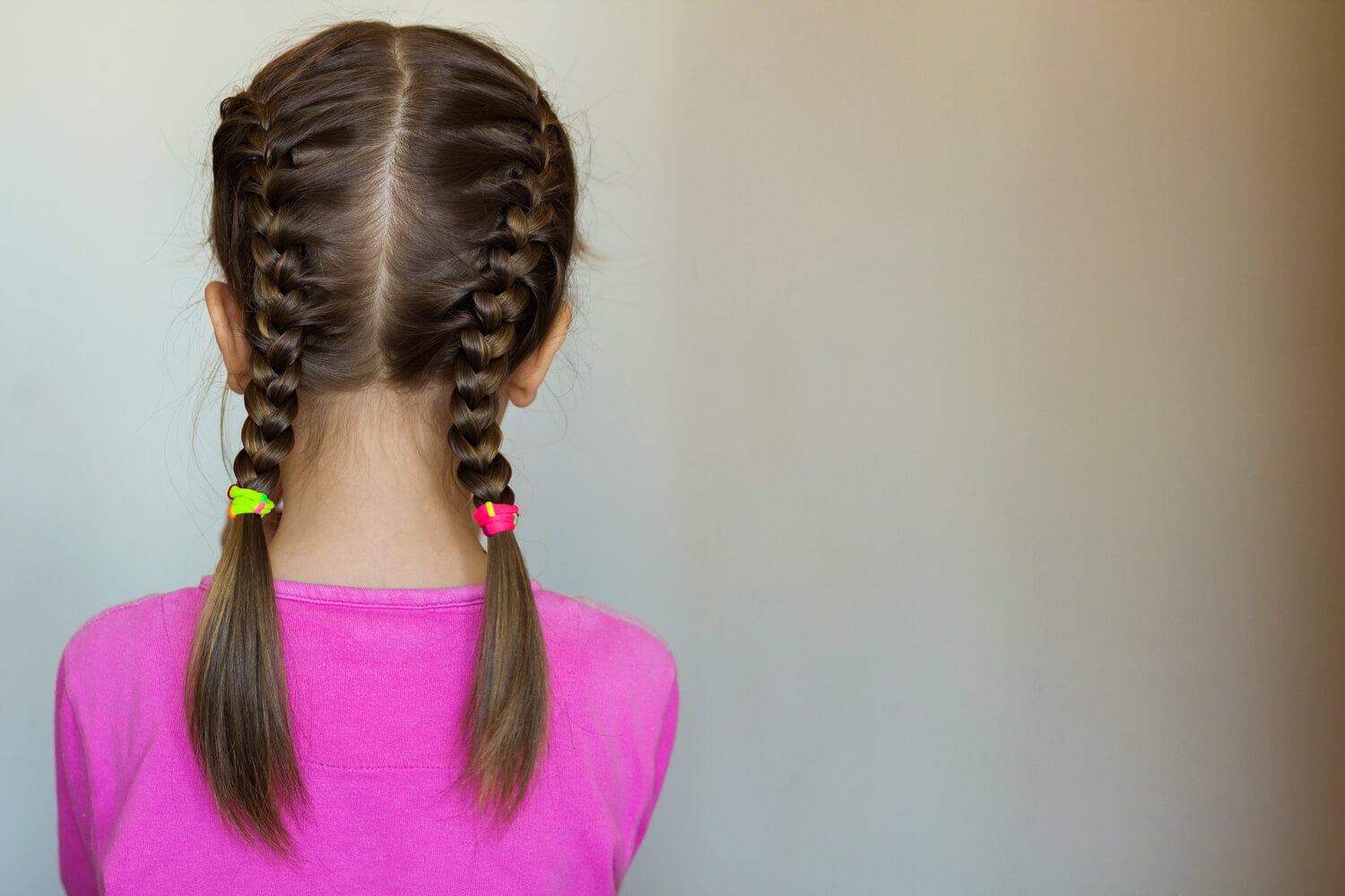 girl with pigtail braids hairstyle