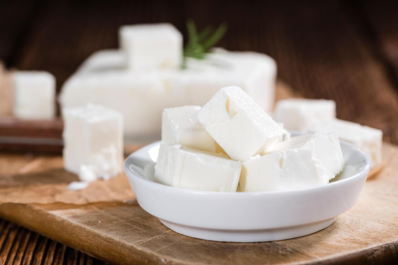 fresh cut feta cheese