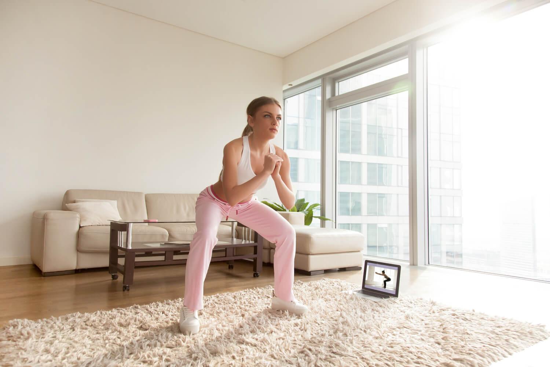 teen doing Sumo squat