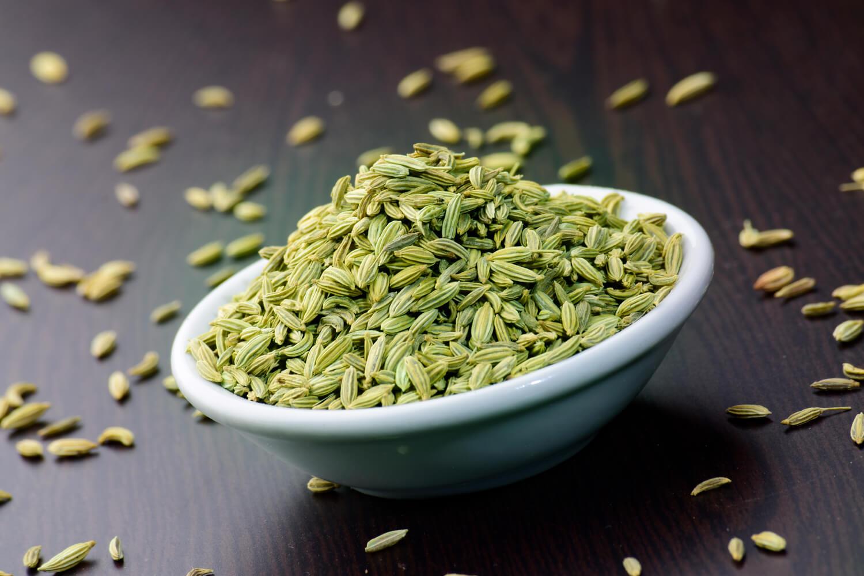 bowl of fennel seeds