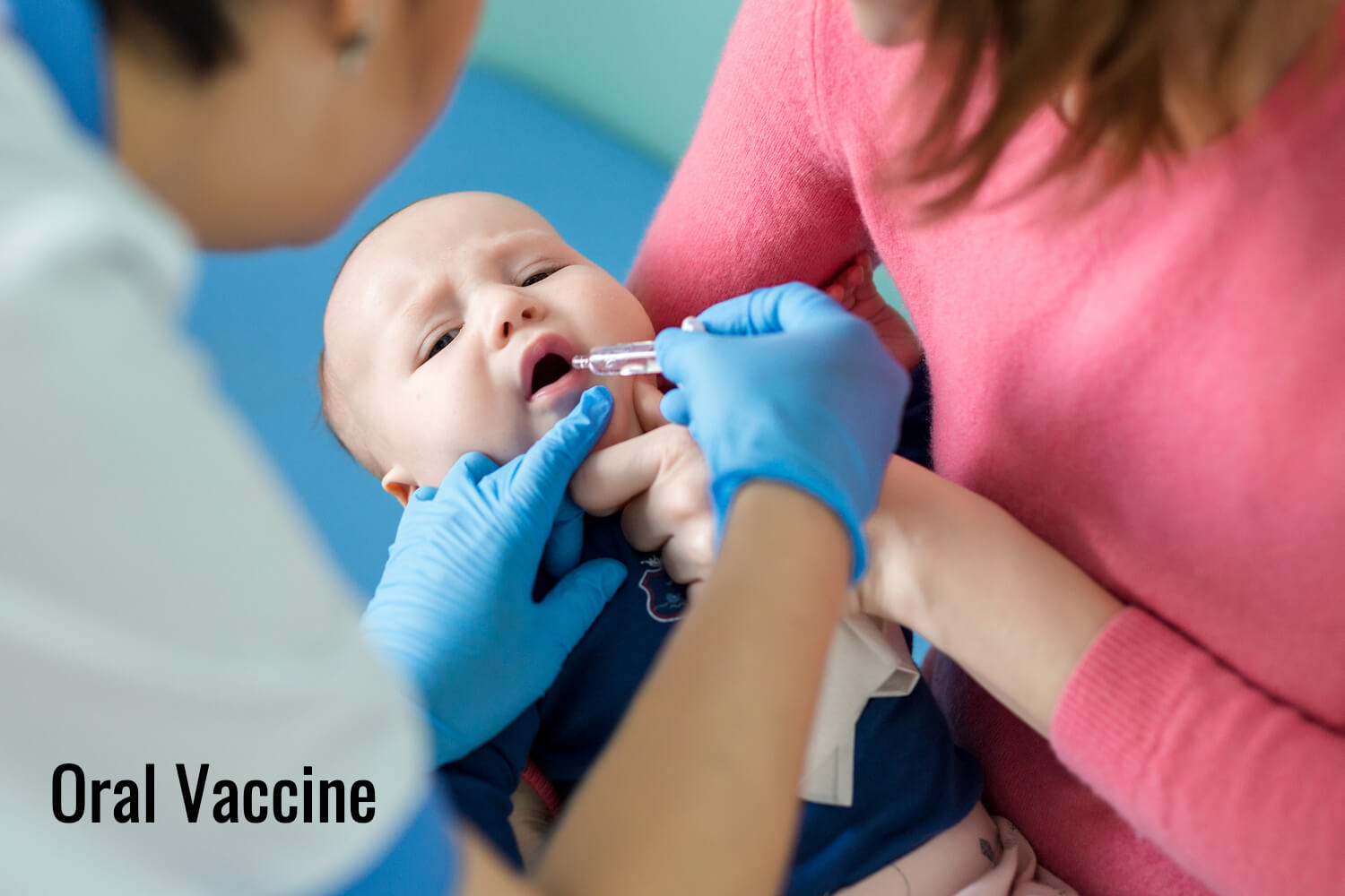 baby getting oral vaccine