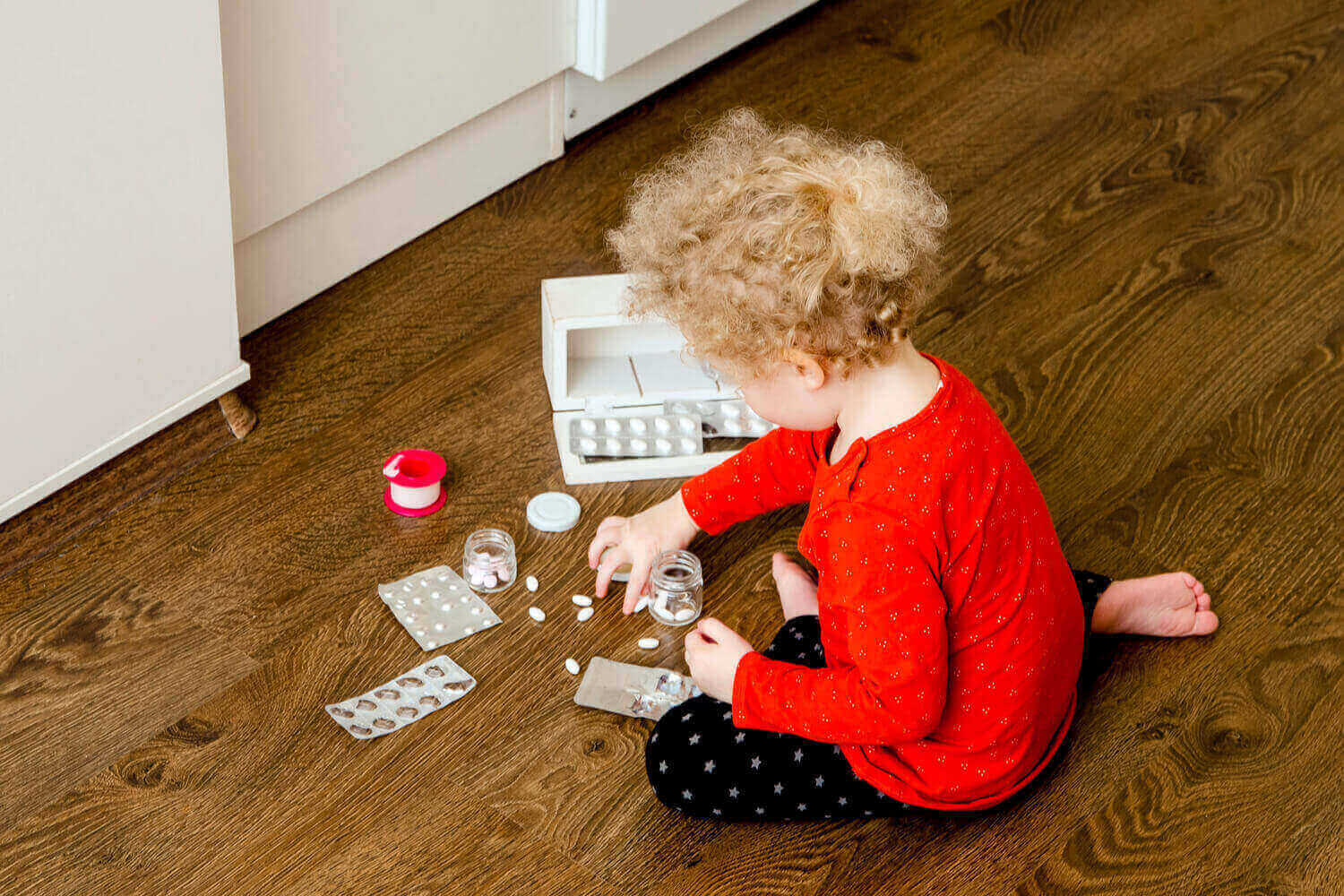kid playing with tablets