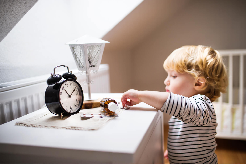 kid reaching medicine