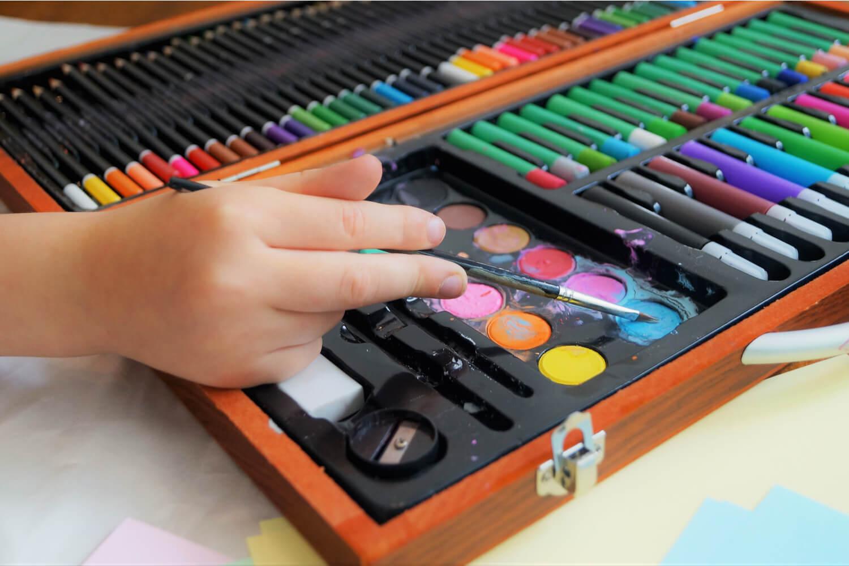 kids art kit as return gift