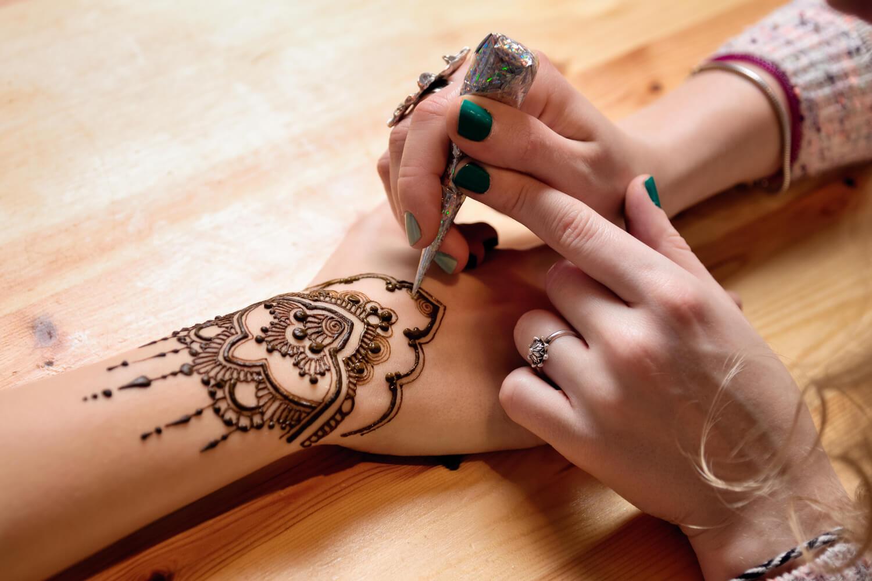 Henna art in hands
