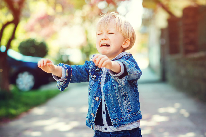kid throwing tantrum in public