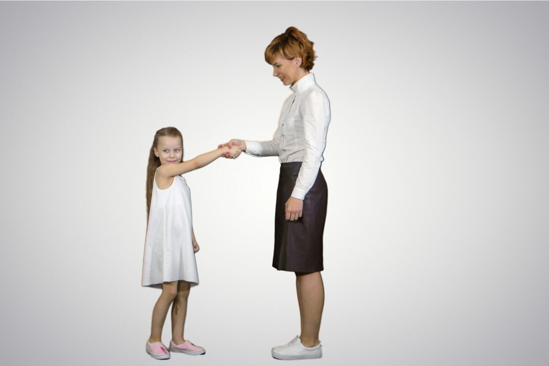 mother teaching ettiquette